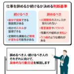 【仕事が合わない・辞めたい】6つの理由と辞めるかの判断基準を解説