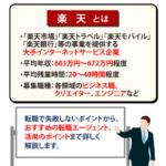 【楽天に転職する!】年収・待遇の口コミや転職成功のポイント3つを解説