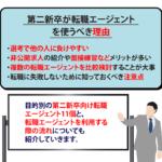 【第二新卒】目的別のおすすめ転職エージェントと3つの注意点を解説