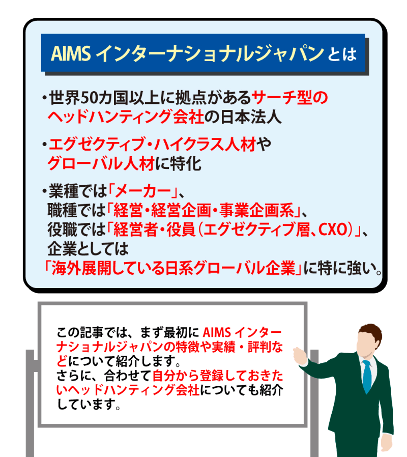 AIMSインターナショナルジャパンの評判は?特徴や転職事例を解説