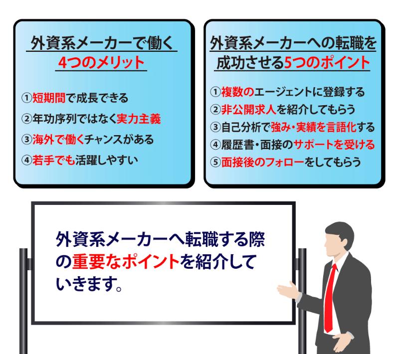 【保存版】外資系メーカーへの転職を実現させるための5つのポイント