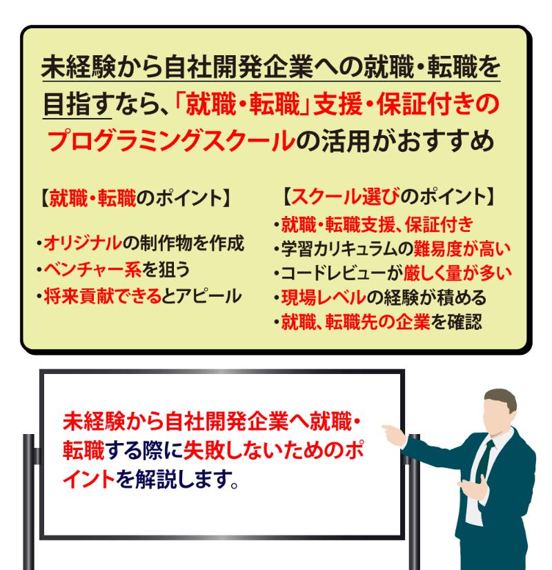 【保存版】未経験から自社開発企業へ就職・転職するための全知識
