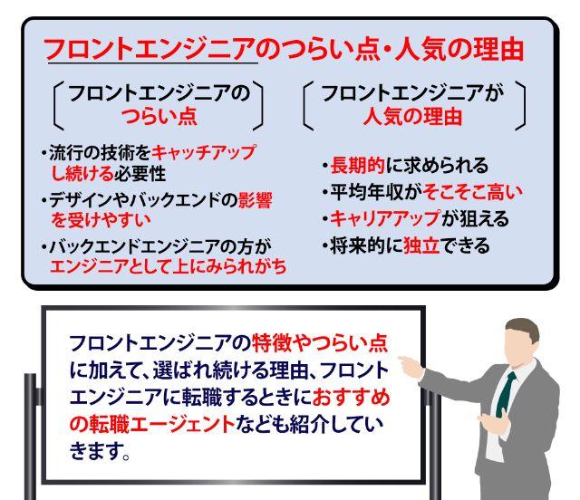 【フロントエンドエンジニア】つらいこと・人気の理由・未経験からの転職法