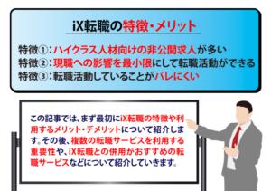 【iX転職】特徴・メリデメ・転職事例・評判・おすすめの活用法を解説