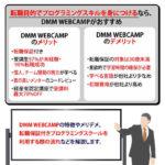 【DMM WEBCAMP】各コースの特徴やメリデメ・転職保証コースについて解説